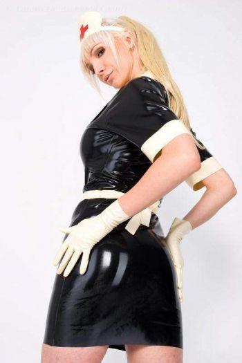 Women's Short Latex Gloves, Thin Latex 1108K-25