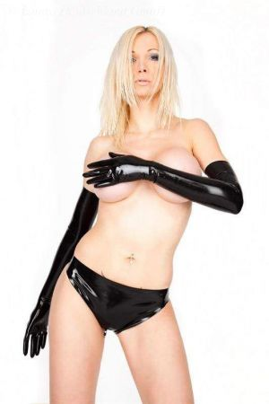Latex Mini Briefs With Zipper