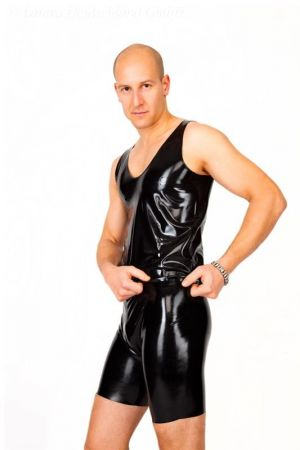Latex Men's Shorts With Zipper 1102Z-01