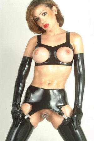 Latex Bra With Exposed Breasts, Thick Latex