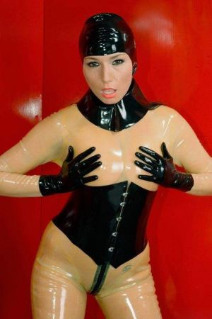 Short Gloves, Thick Latex  1108K-06