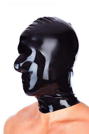 Latex Hood With Zipper And Openings For Mouth And Nose 1109-04Z