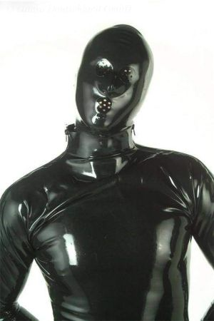 Latex Hood With Perforated Holes  1109-06