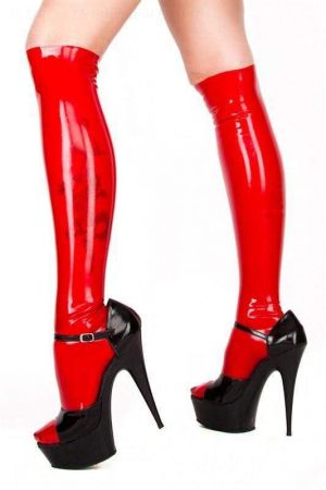 Latex Knee Socks, Unisex 1121