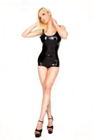Latex Leotard With Straight-Cut Legs And Open Crotch  1127A