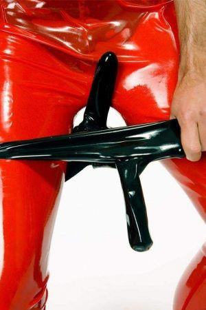 Latex Men's Briefs With 2 Sheaths 1132