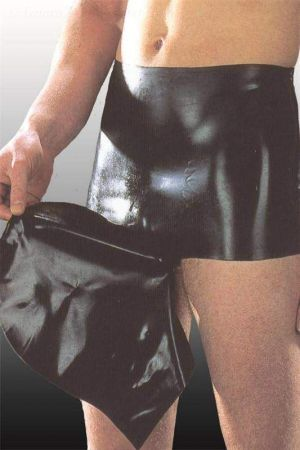 Latex Briefs With Attached Hood 1141