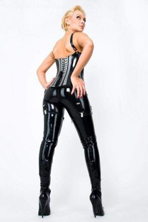 Latex Leggings With Close Fit