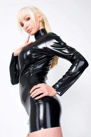 Latex Dress With Long Sleeves