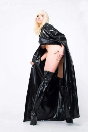 Latex Women's Cape With Hood, Long  1189