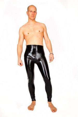 Latex Leggings with open crotch 1192A
