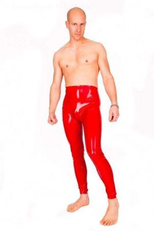 Latex Men's Leggings, Thick Latex 1192-06