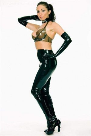 Latex Leggings With Feet  1193