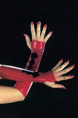 Elbow-Length Fingerless Gloves With Ornament