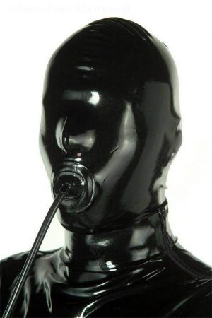 Latex Hood With Penis Gag And Zipper 1202Z
