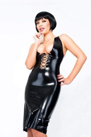 Latex Dress With Lacing
