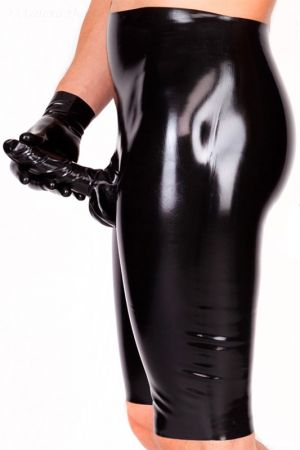 Latex Bermuda Shorts With Penis Sheath