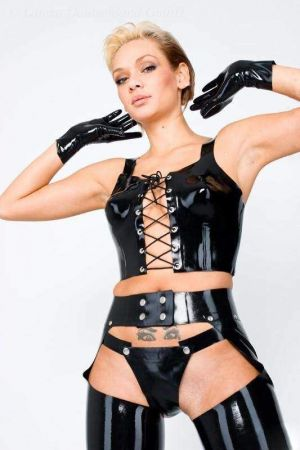 Corset Top, Thick Latex 1218