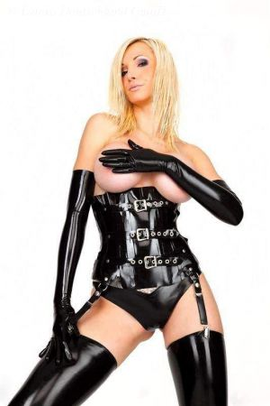 Corset With Buckles, Thick Latex 1224