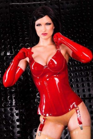 Corset With Cups, Thick Latex 1226