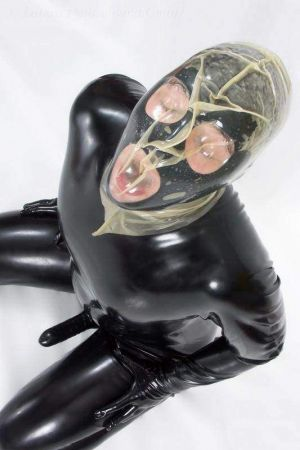 Latex Breathplay Hood