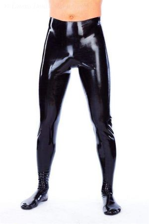 Latex Men's Leggings With Feet 1242