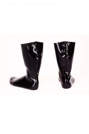 Latex Socks: anatomical with zipper, thick latex 1257Z