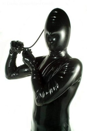 Latex Hood, Inflatable With Nose Opening 1307