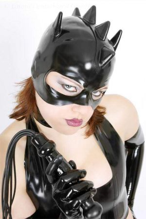 Latex Mask: Catwoman With Cock's Comb
