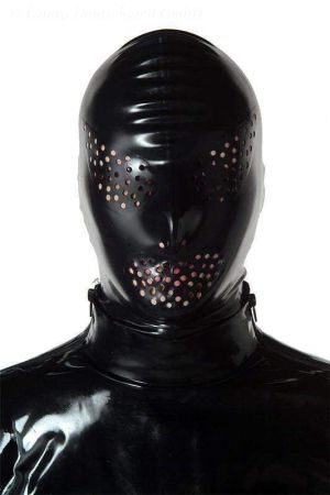 Latex Hood With Wide Perforated Holes 1341