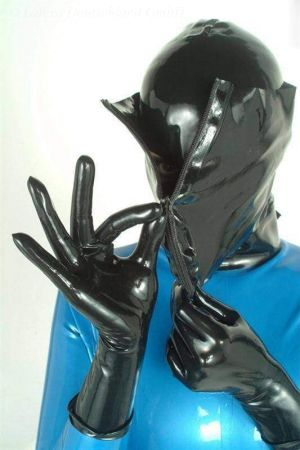 Short Gloves With Rolled Edge, Thin Latex