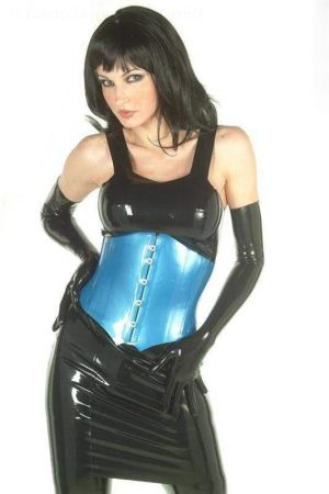 Latex Dress With Shoulder Straps