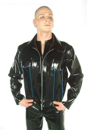 "Latex Jacket, ""Cowboy"" Style, Thick Latex"