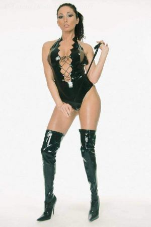 Latex Leotard With Lacing And Colored Inserts 3039