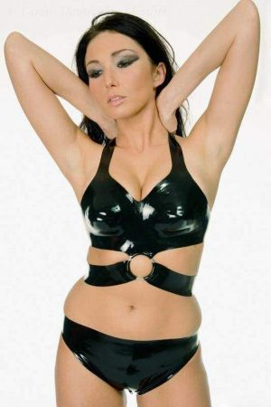 Latex Bra With Ring 3046