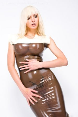 Latex Dress With Two-Tone Design