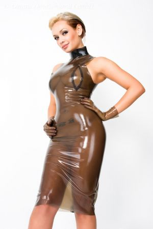 Latex Dress With Collar 3055