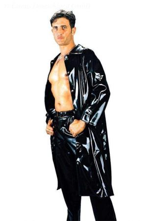 Latex Men's Raincoat, Thick Latex