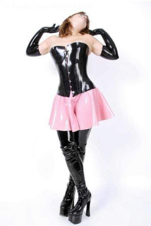 Latex Skirt With Zipper, Thick Latex