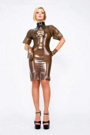 Latex Dress With Lacing At Bust