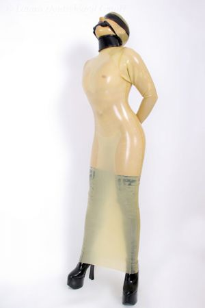 Latex Maxi Dress With Long Sleeves
