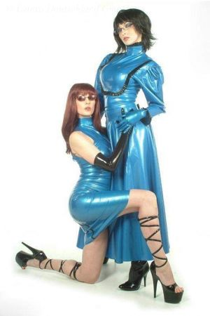 Latex Full Skirt With Zipper
