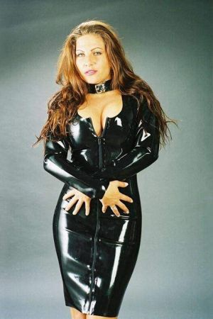 Latex Dress With Decollete 3078