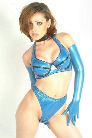 Latex Bra In Halter Style 3102