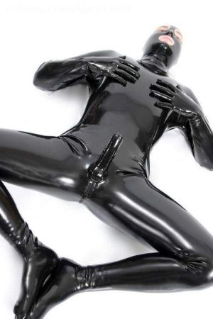 Latex Catsuit: Full-Body With Penis Sheath