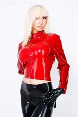 Jacket With Zipper, Thick Latex 3112