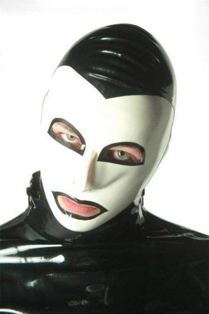 Latex Hood In 2 Colors With Contour Lines