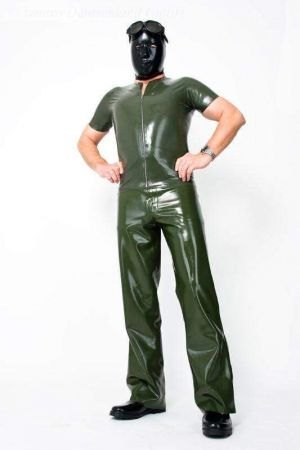 Latex Men's Jeans, Thick Latex