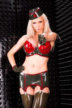Latex Bra In 2 Colors, Thick Latex  3123