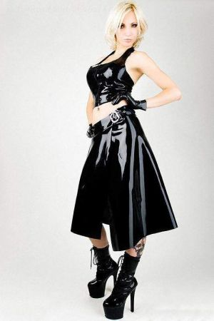 Latex Kilt Skirt, Thick Latex